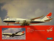 Herpa Wings 1:500 Boeing 747-400 British Airways G-CIVB 533508 Modellairport500