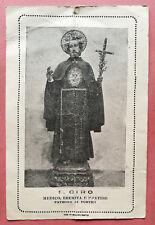 Santino Holy Card: S. San Ciro, medico, eremita e martire - Patrono di Portici