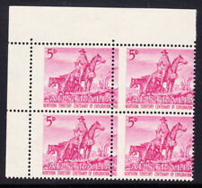 1960-Australia top LH corner block of 4 5d Magenta Centenary of Northern Territo