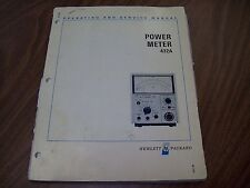 HP 432A Power Meter Operating and Service Manual