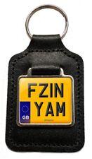FZ1N YAM REG (GB) Number Plate Pelle Portachiavi per YAMAHA FZ1N NAKED FZ1 NOS