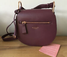RADLEY CAMLEY STREET BURGUNDY LEATHER ROSE GOLD HANDBAG CROSS BODY BAG NEW