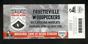 Fayetteville Woodpeckers--2019 Inaugural Game Ticket--Astros Affiliate