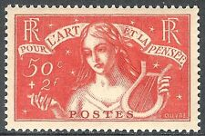 France1935 Symbolic of Art red 50c + 2f mint SG533