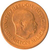COIN / SIERRA LEONE / 1/2 CENT 1964 / MILTON MARGAI BU UNC FULL LUSTRE   #WT5461