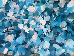 Blue & White Biodegradable Wedding Confetti Frozen Theme - Up to 5/6 sm handfuls