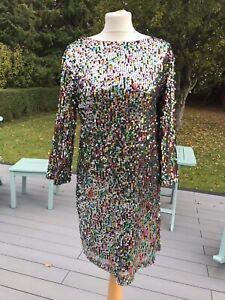 Ladies Size 14 Scarlett Sequin Shift Dress From Boohoo