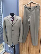 Men's BEIGE Two piece PRADA Italian Trouser Suit IT 52 UK 42' Chest 32/34W 33L