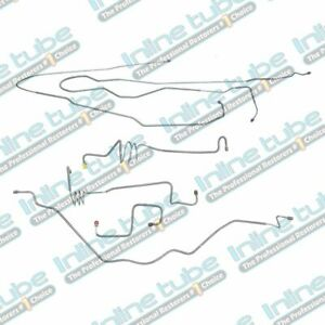 1994-1996 Ford F150 Power Disc Preformed Front Brake Line Kit Set, Stainless