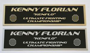 Kenny Florian UFC nameplate for signed mma gloves photo or case