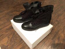 NEW never worn Multi Lace Kris Van Assche Black Leather Sneakers Size 41 US 8