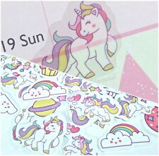 Unicorn Stickers 40 Small Self Adhesive Vinyl Cute Rainbow Kawaii Kids Childrens