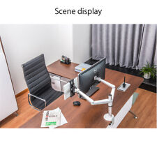 """Dual Monitor Arms Fully Adjustable Desk Mount Stand Fits 2 Screens Up To 27"""""""