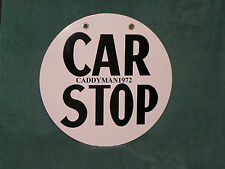 CAR STOP Sign Pittsburgh Railways PaTransit Trolley PCC Bus Port Authority