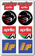 Aprilia Racing ip aufkleber decal 16x26 cm. blatt 8 stickers rsv rs 50 250