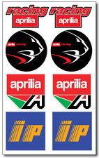 Aprilia Racing ip aufkleber decal 16x26 cm. blatt 8 stickers rsv rs 50 250