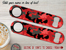 Camo Red Personalized Bartender Bar Blades Customized Flat Speed Bottle Openers