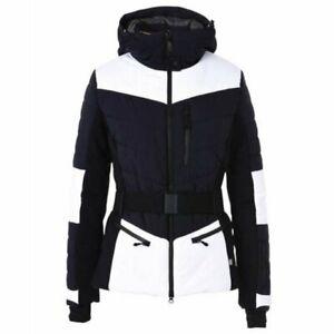 £560 NAPAPIJRI CLOE WOMENS DESIGNER NAVY WHITE SKI SNOW JACKET COAT XS BNWT BELT
