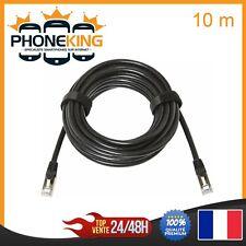 Câbles Reseau Ethernet RJ45 CAT 5E de 10 m - Noir