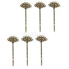 6pcs Retro Vintage Bronze Filigree Hair Clips Bobby Pins Hair Bobby Pins