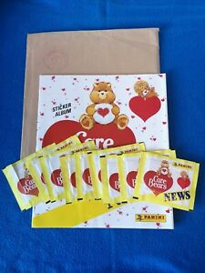 Original CARE BEARS News PANINI Stickers & Album 1987 Vintage Mail Out Promotion