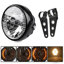 "8"" Universal Motorcycle Headlight Led Turn Signals Honda Yamaha Suzuki Kawasaki"