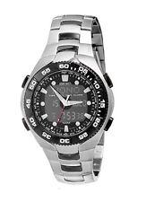SEIKO Analog-Digital Chronograph SNJ015 SNJ015P1 Worldtime Black Dial 100m Watch