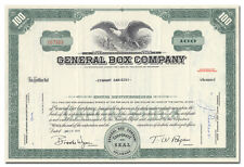 General Box Company Stock Certificate
