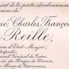René Charles François Baron Reille Député Président Compagnie Canal du Midi 1898