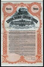 1914 Central Railway Company of Canada - uncancelled $100 Bond
