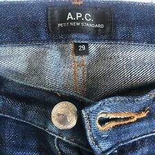 "APC Petit New Standard Jeans 29"" RAW INDIGO WORN WASHED DISTRESSED A.P.C."