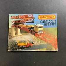 VINTAGE 1981-1982 MATCHBOX DIE-CAST TOY CAR CATALOGUE SUPERKINGS SETS BOOK