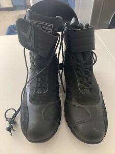 FRANK THOMAS  Motorbike Black Leather Boots Size 9UK Worn Twice