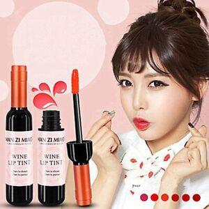 Wine Red & Pink Korean Style Lip Tint For Women Makeup Liquid Lipstick Lip Gloss