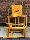 vintage school stools of the art room science lab type in pine retro antique