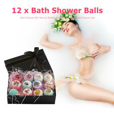 12pcs Bath Shower Ball Natural Bubble Salt Bombs Body Scrub Cleaner Spa