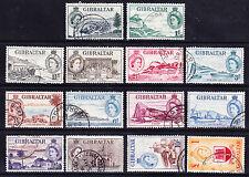 GIBRALTAR Queen Elizabeth II 1953/9 SG145/58 set of 14 fine used. Catalogue £120