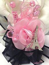 Baby Shower Corsage Favor Paris Theme Mom to Be Keepsake Decoration