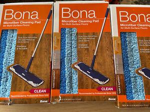 Bona Microfiber Floor Mop Cleaning Pads NIB - Lot of 3 Multi-Surface Floors