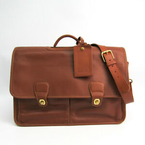 Coach 0532 Unisex Leather Briefcase Brown BF503110
