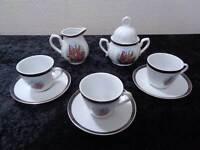 12 tlg. Konvolut Porzellan Kaffeeservice - NOS - Vintage-Stil / Antik-Look