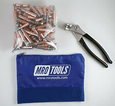 100 18 Cleco Sheet Metal Fasteners Plus Cleco Pliers With Carry Bag K1s100 18
