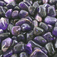 Chakra Stone Charm Amethyst Reiki Healing Gift Tumbled Gemstone Small Single