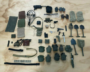 Large Lot of 1:6 Scale Military Accessories for Dragon - DID -  Action Figures