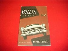 1955 WILLYS BERMUDA CUSTOM 6 226A OWNERS MANUAL SERVICE + WIRING DIAGRAM 55