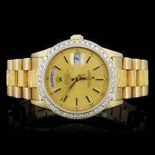 Rolex 18K YG Day-Date Diamond Gent's Watch Lot 979