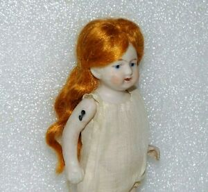 """ANTIQUE GERMANY ALL BISQUE # 6248 Jointed Arms & Legs VINTAGE 5"""" MIGNONETTE DOLL"""