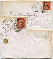 GB Penny Rojo Perfin en portada Lw + Co Argentina Tramways sobre 1875