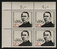 1965 Germany Sc#928 Mi#477 Numeral Corner Margin Block MNH VF
