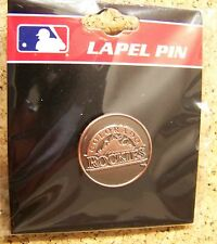Colorado Rockies logo pin copper color, penny like design